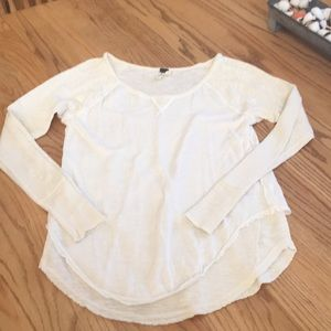 Free People off white thermal shirt